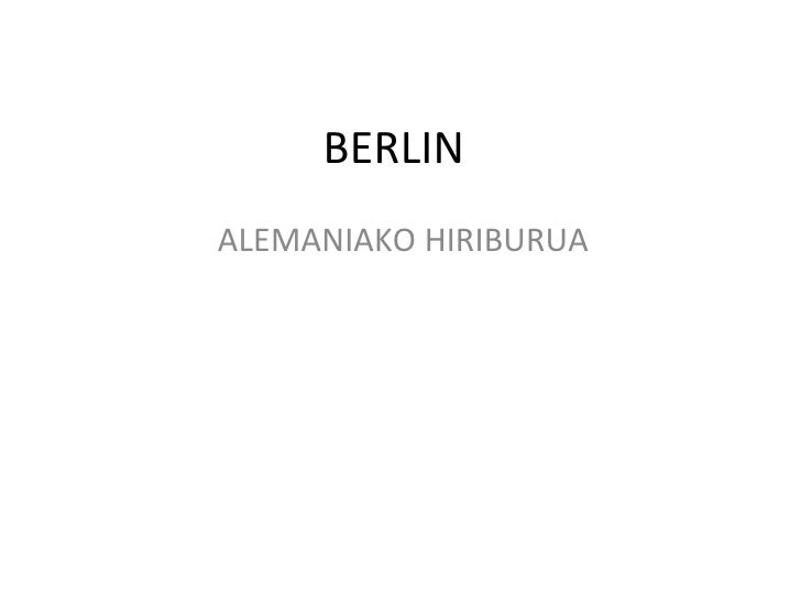 BERLINALEMANIAKO HIRIBURUA