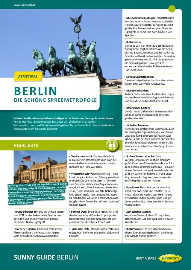 www.sunnycars.de 1   useum für Naturkunde: Hauptattraktio M nen des renommierten Museums sind die riesigen Saurierskelet...