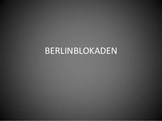 BERLINBLOKADEN