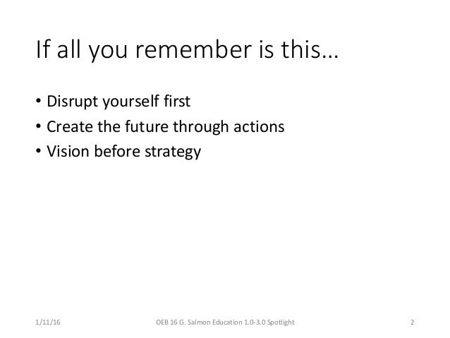 Education 3.0 - Catch a strand from the future! Slide 2