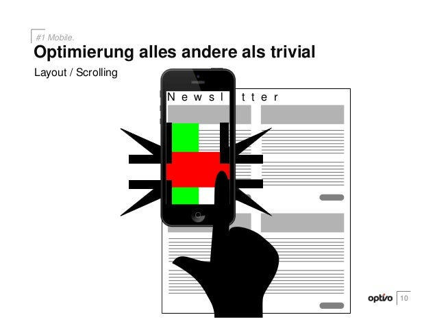 N e w s l e t t e rLayout / Scrolling10Optimierung alles andere als trivial#1 Mobile.