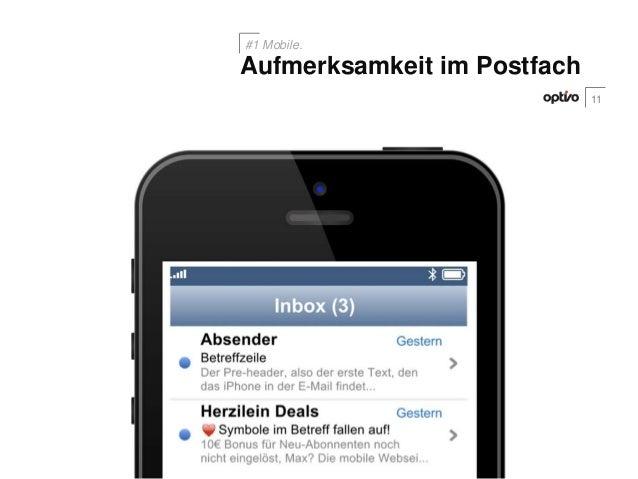11Aufmerksamkeit im Postfach#1 Mobile.