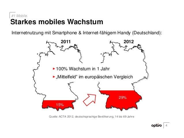 Internetnutzung mit Smartphone & Internet-fähigem Handy (Deutschland):201229%201115%29%Quelle: ACTA 2012, deutschsprachige...