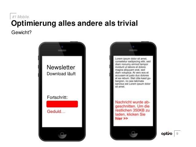 Gewicht?9Optimierung alles andere als trivial#1 Mobile.NewsletterDownload läuftFortschritt:Geduld…