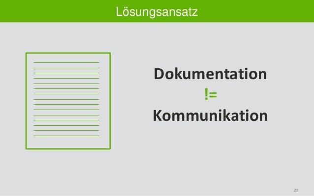 28 Lösungsansatz Dokumentation != Kommunikation