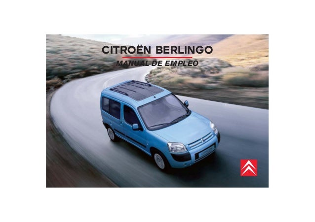 CITROËN BERLINGO  MANUAL DE EMPLEO