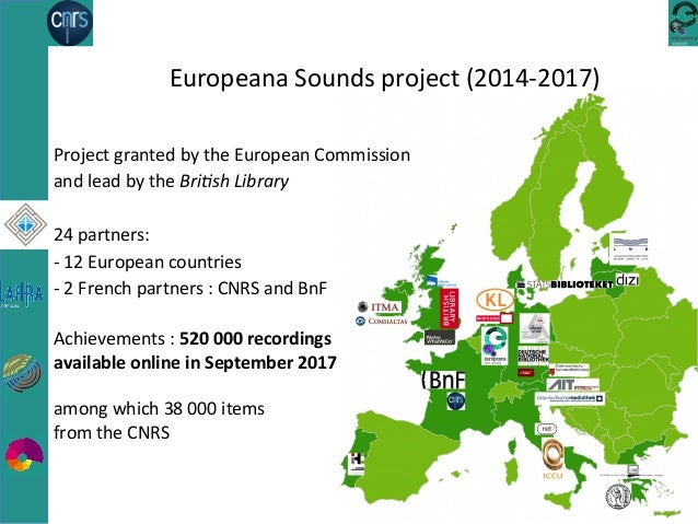 The CNRS Sound Archives provided to the European library