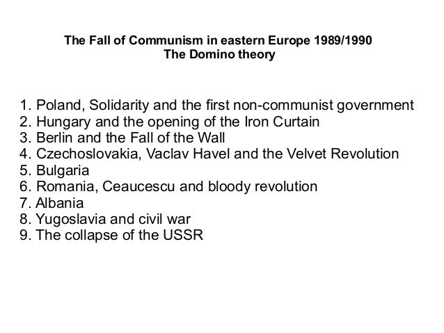 collapse of communism in east europe A secondary school revision resource for gcse history about modern world history, international relations, the end of the cold war and the collapse of communism.