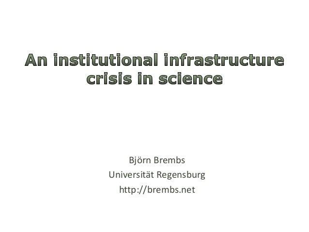 Björn BrembsUniversität Regensburg  http://brembs.net