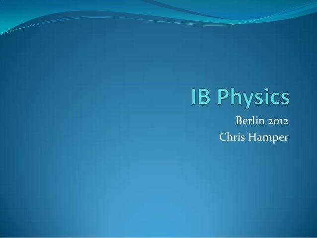 Berlin 2012Chris Hamper