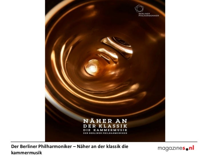 Der Berliner Philharmoniker – Näher an der klassik diekammermusik