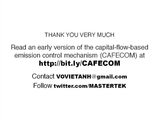 Capital Flow based Emission Control Mechanism (CAFECOM)