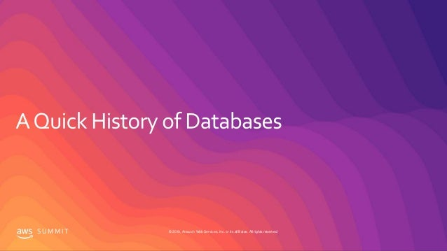 How to Choose The Right Database on AWS - Berlin Summit - 2019 Slide 2