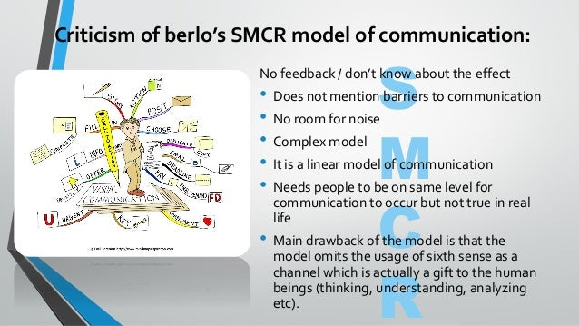 berlo s smcr model of communication Basics of berlo's communication model (linear, communication as action.