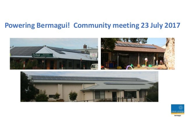Powering Bermagui! Community meeting 23 July 2017