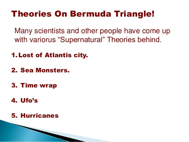 The conspiracy theories behind the bermuda triangle
