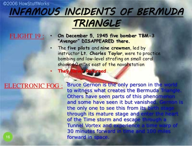 The mysterious happenings within and around the infamous bermuda triangle