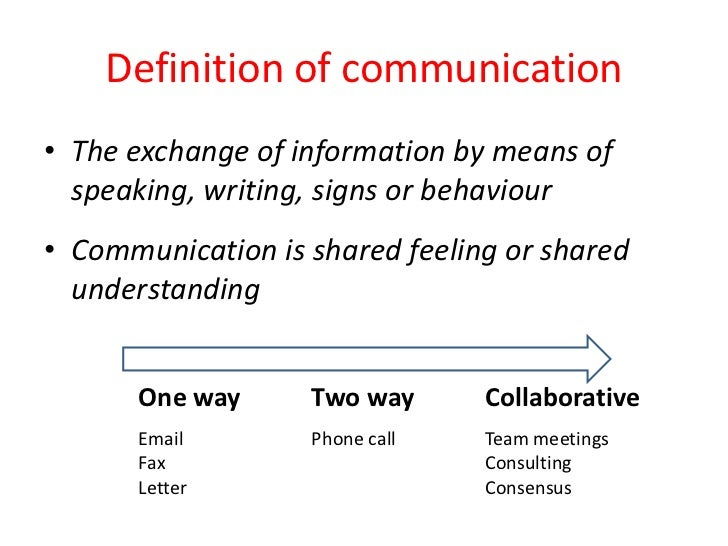 one to one communication meaning