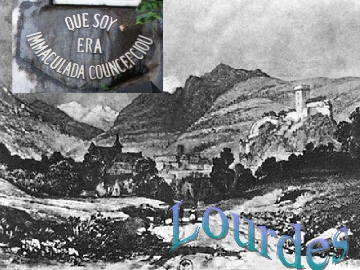 """""""Lourdes éverdadeiramenteum lugar de luz, deoração, deesperança e deconversão,fundadas sobre arocha do amor deDeus, que te..."""