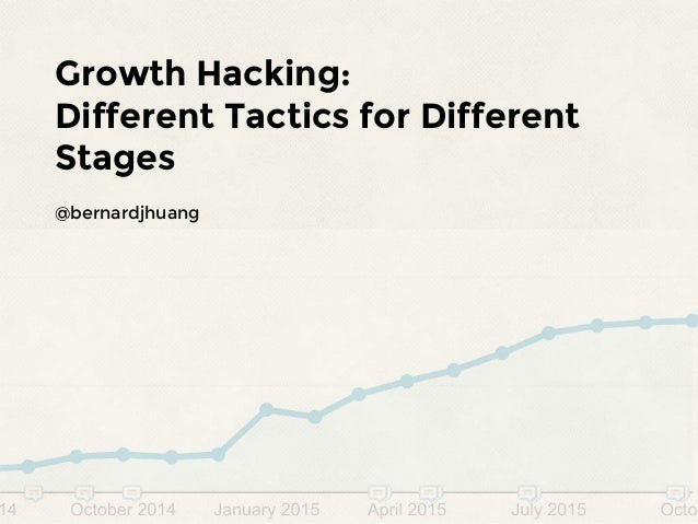 Growth Hacking: Different Tactics for Different Stages @bernardjhuang