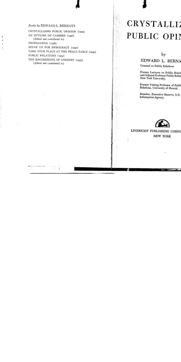 Bernays  -crystallizing_public_opinion