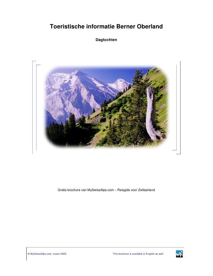 Toeristische informatie Berner Oberland                                                Dagtochten                         ...