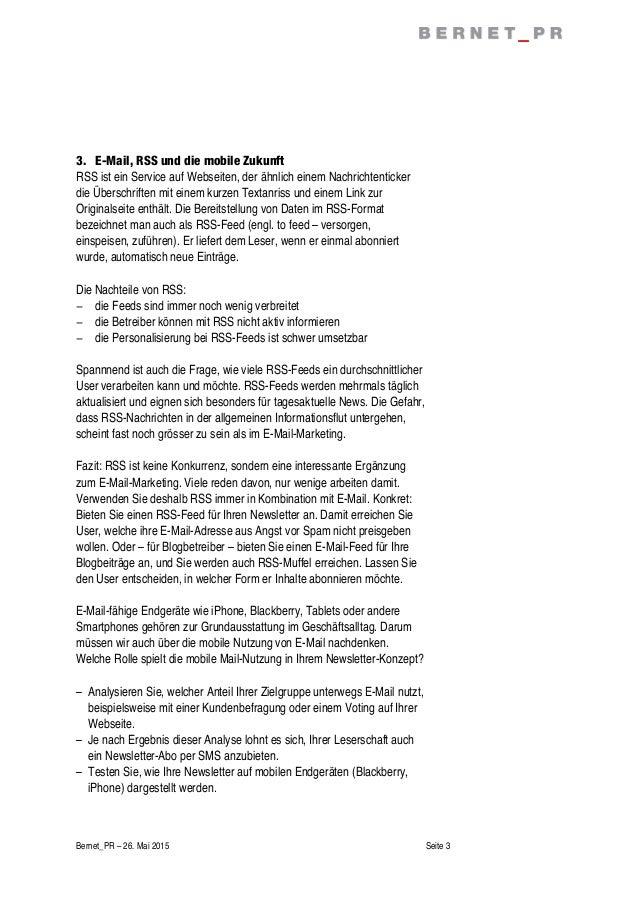 Bernet Checkliste E Mailings