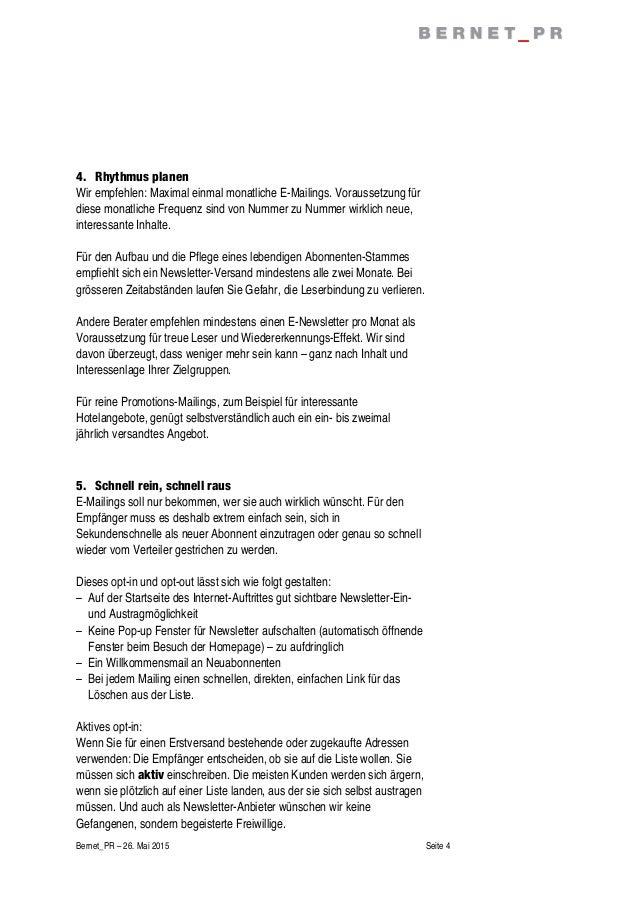 Bernet Checkliste E-Mailings