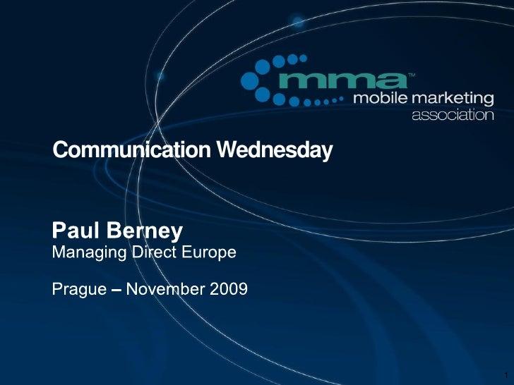 Communication Wednesday                               1