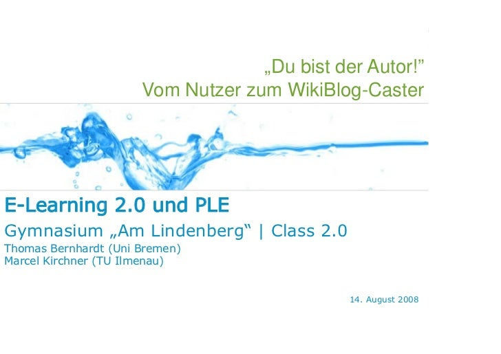 WEB 2.0   E-LEARNING 2.0   PLE   SOCIAL SOFTWARE   KONZEPTIONSIDEEN                                                       ...