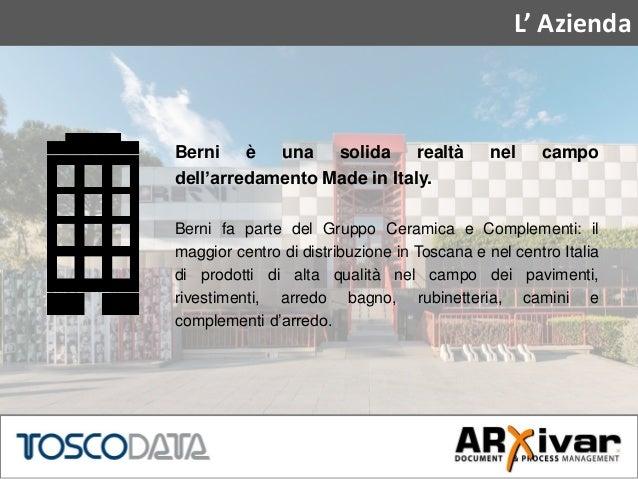 arxivar per berni: per una supply chain agile - Berni Arredo Bagno