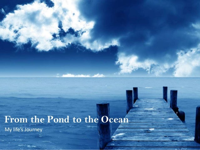 From the Pond to the Ocean My life's Journey