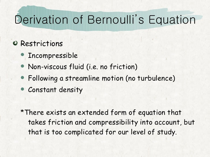bernoulis principle Bernoulli's principle - examples example of flow rates in a reactor example of lift forces example of spinning ball in an airflow bernoulli's principle.