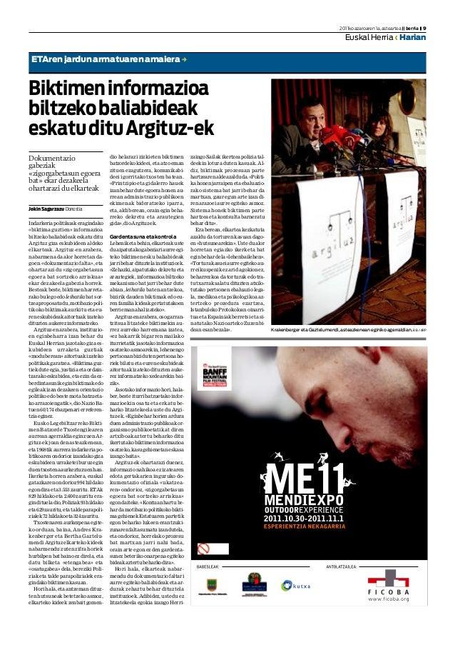 JokinSagarzazu Donostia Indarkeria politikoak eragindako «biktima guztien» informazioa biltzeko baliabideak eskatu ditu Ar...