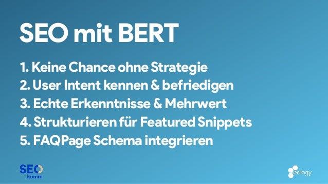 BERTology @ SEOkomm 2019 - Kai Spriestersbach - eology GmbH