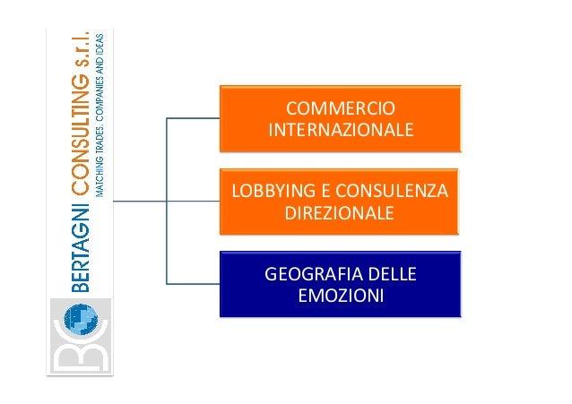 COMMERCIO INTERNAZIONALE LOBBYINGECONSULENZA DIREZIONALE GEOGRAFIADELLE EMOZIONI
