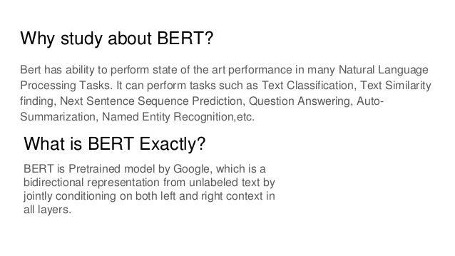 NLP State of the Art | BERT