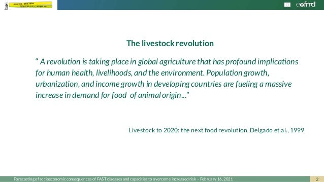Investing in resilience to fast diseases Slide 2
