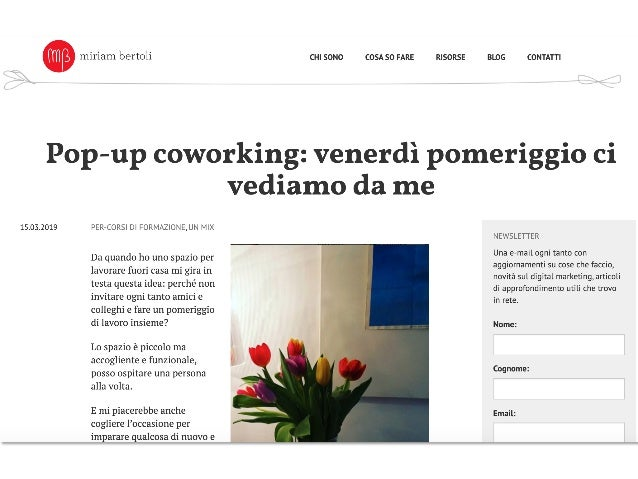 Il Pop-Up Coworking Friday al CowoShare 2020 Slide 2