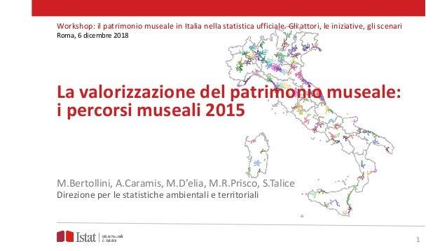 La valorizzazione del patrimonio museale: i percorsi museali 2015 M.Bertollini, A.Caramis, M.D'elia, M.R.Prisco, S.Talice ...