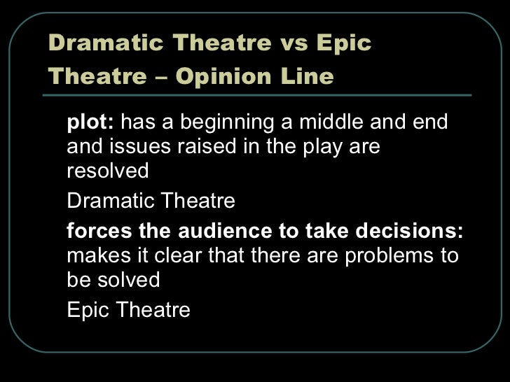 what is epic theatre pdf
