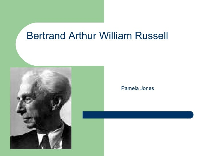 Bertrand Arthur William Russell   Pamela Jones