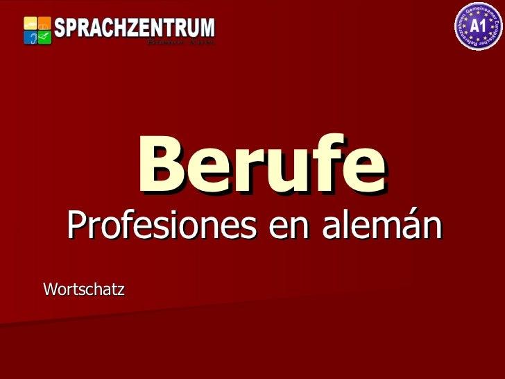 Berufe Profesiones en alemán Wortschatz