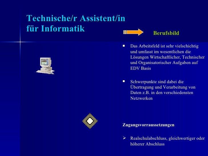 Der Beruf des Technischen Assistenten für Informatik Slide 2