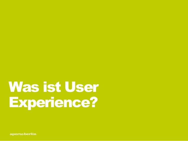 Was ist User Experience?