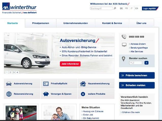 Screenshot: AXA Schweiz