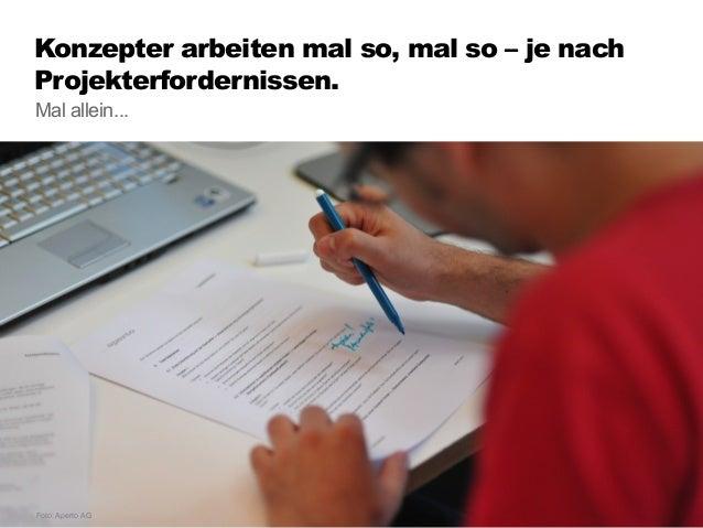 Konzepter arbeiten mal so, mal so –je nach Projekterfordernissen. 49 ...oder moderieren Workshops. Foto: Stefan Freimark