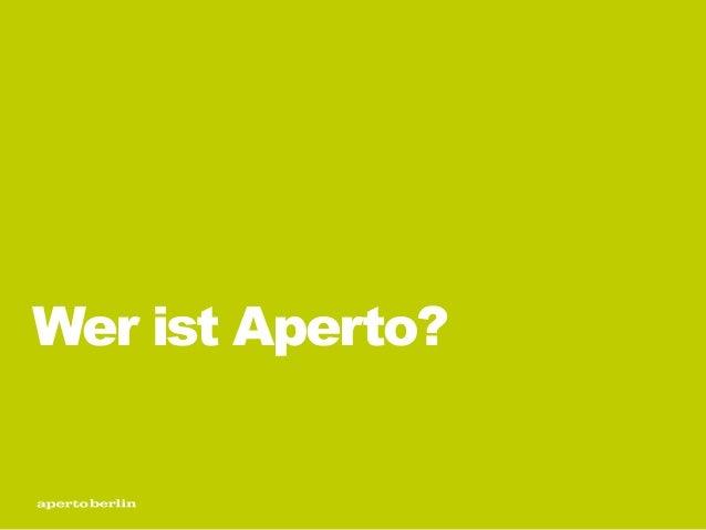 Wer ist Aperto?