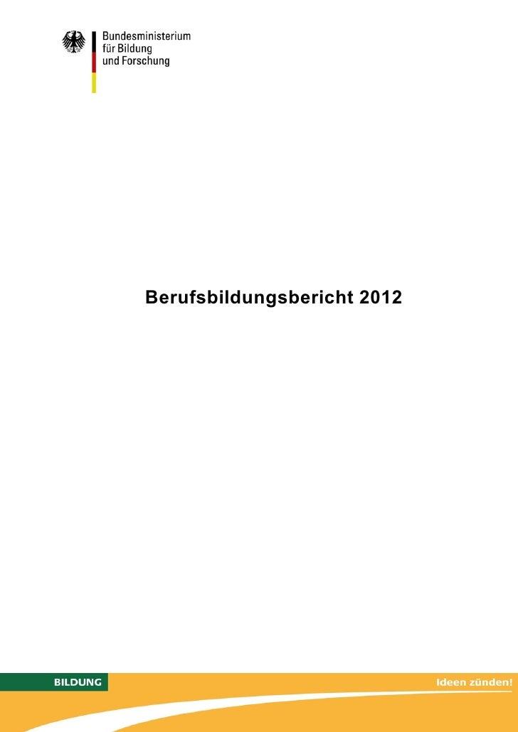 Berufsbildungsbericht 2012