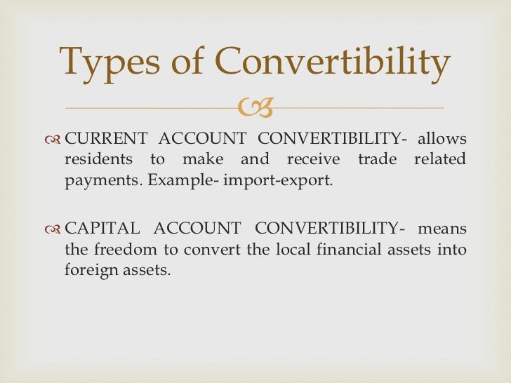 Tarapore Committee on Capital Account Convertibility